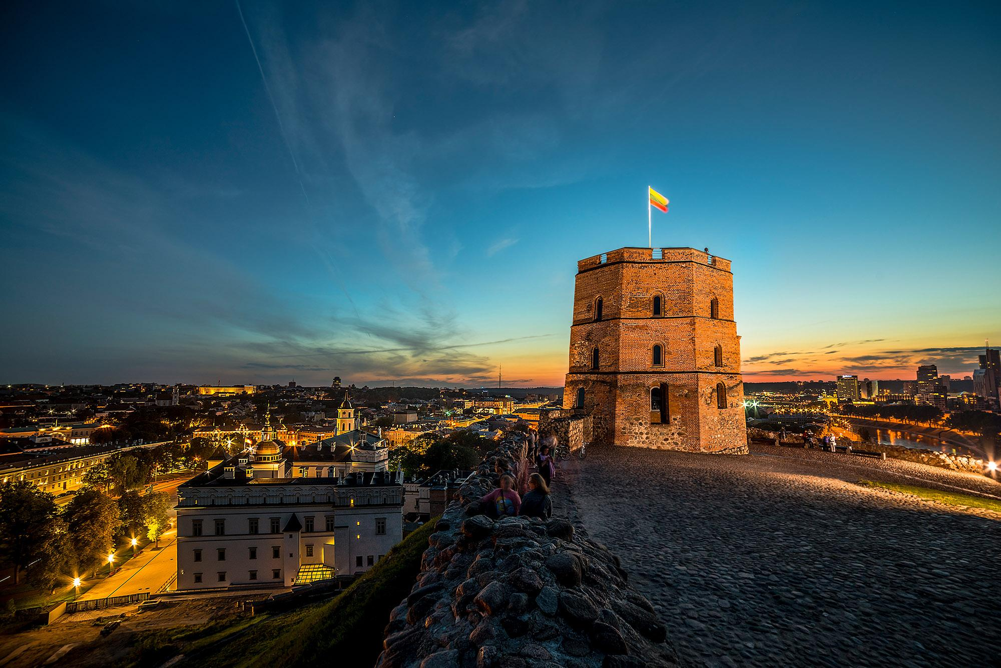 Gediminas tower is Vilnius's calling-card symbol. - © Laimonas Čiunys / www.vilnius-tourism.lt