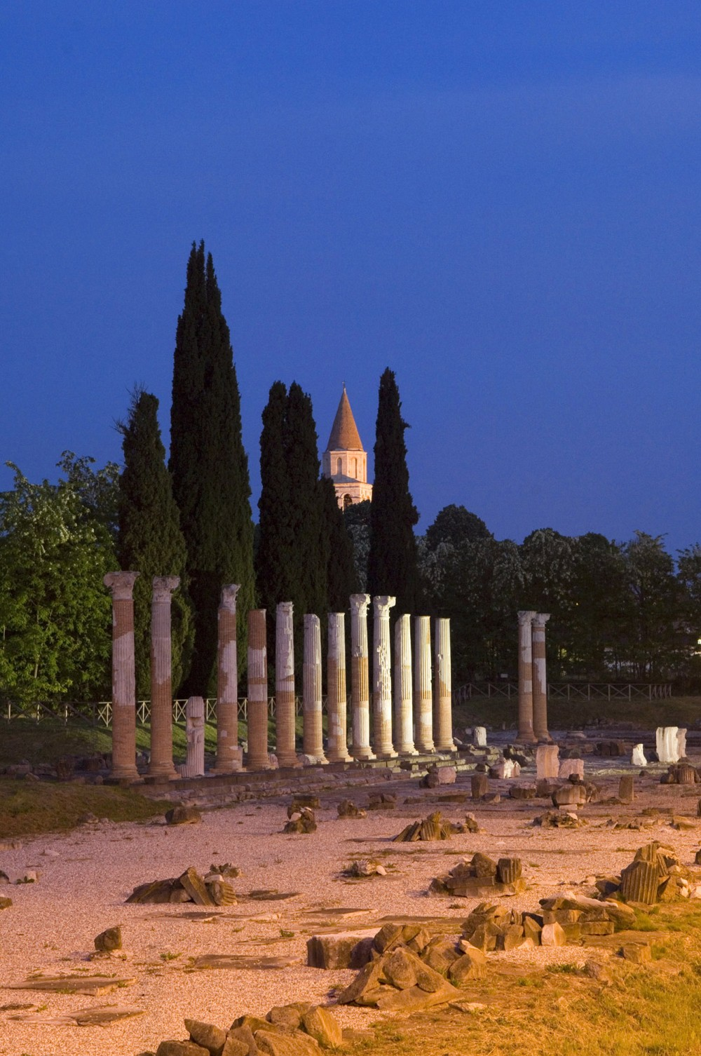 The forum of Aquileia today, with the campanile of the Early Christian basilica in the background. – © Gianluca Baronchelli