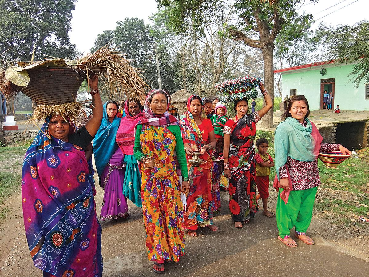 Tharu villagers are stewards of the Greater Lumbini Area – © Lumbini Development Trust