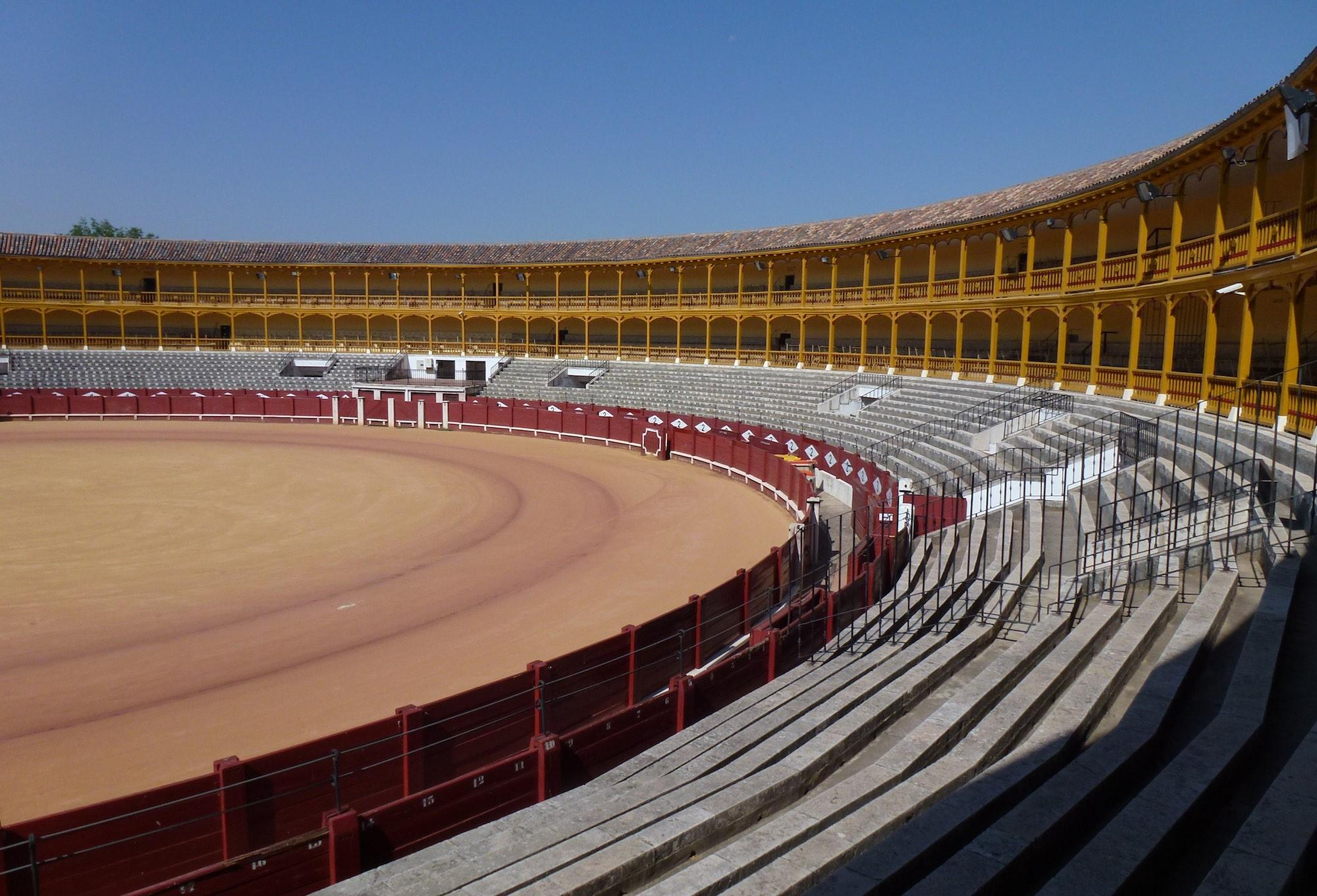 The Plaza de Toros hosts bullfights about twice per year, but it also hosts performances and other events, as well as the Museo Taurino bullfighting museum featuring garments, utensils and posters of famous matadors. – © Joaquín Álvarez
