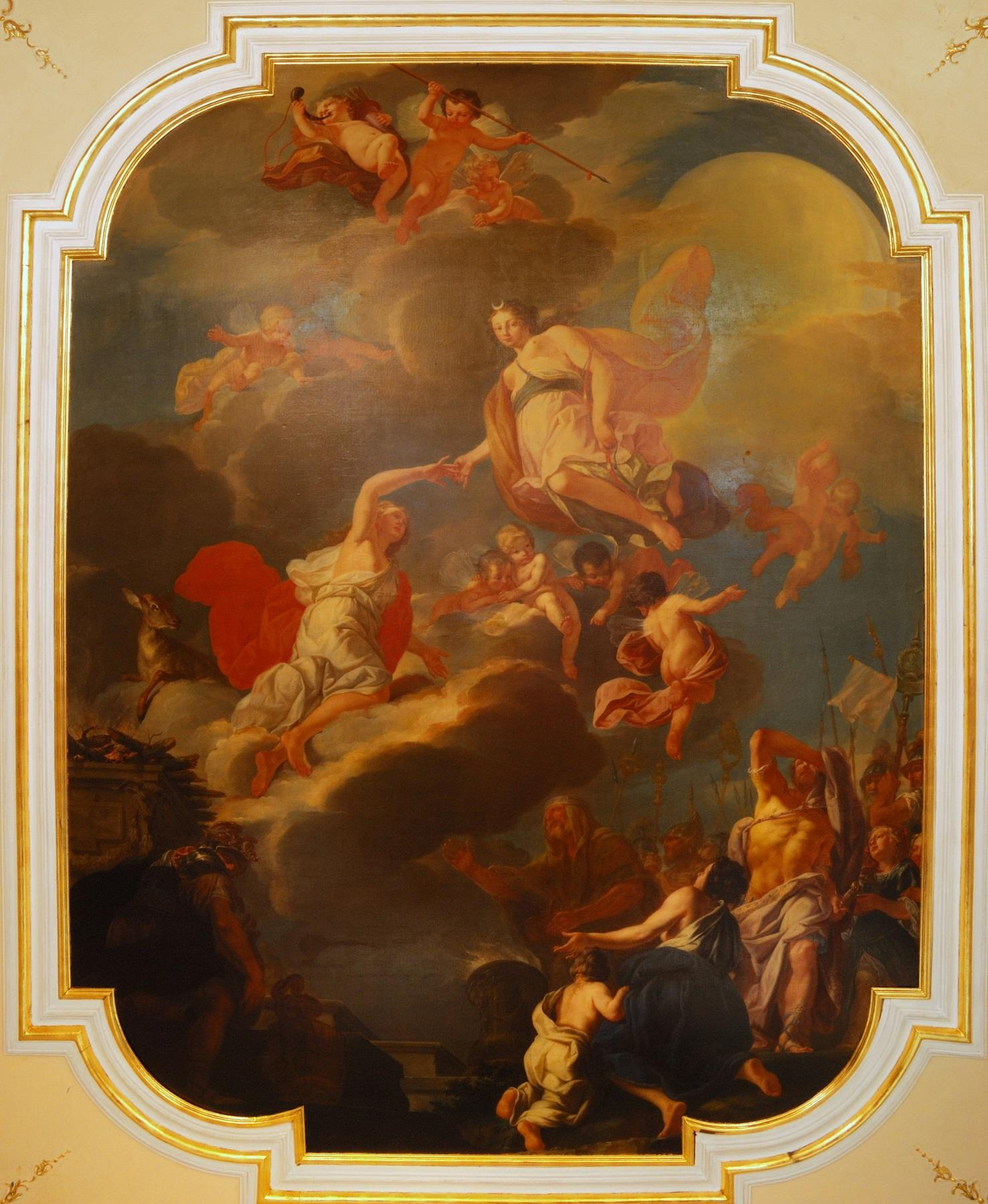 Most of the rooms at Valtice Castle have brilliant original baroque ceiling paintings, which you can learn about on the tours. – © Archive of Valtice Castle