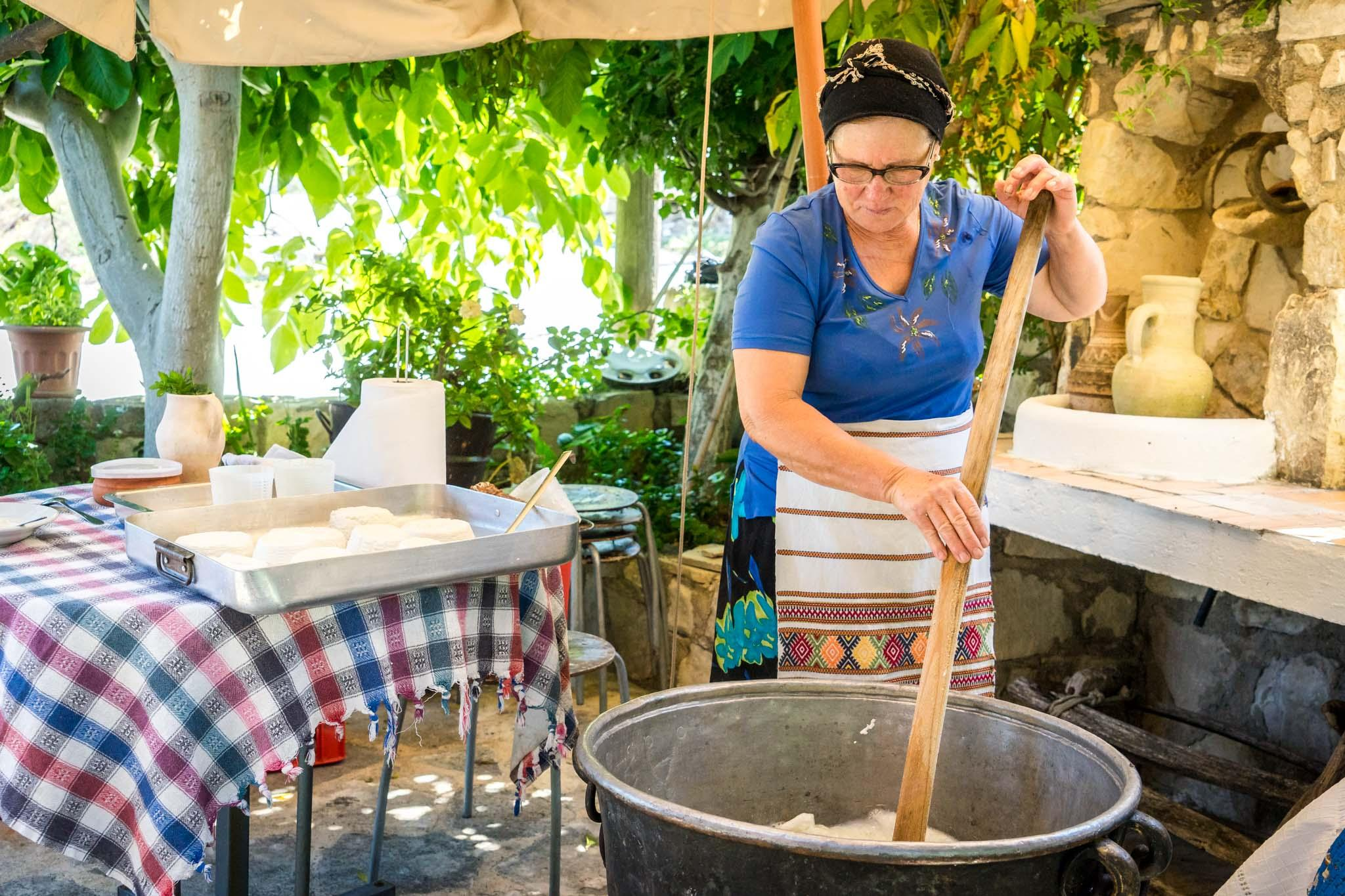Local cheesemakers in the hills around Pafos are able to cook halloumi in their own homes. – © Michael Turtle