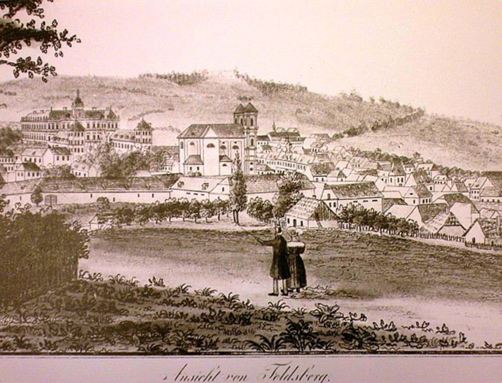 View at Valtice town at the turn of the 18th and 19th centuries. – © Archive of Valtice Castle