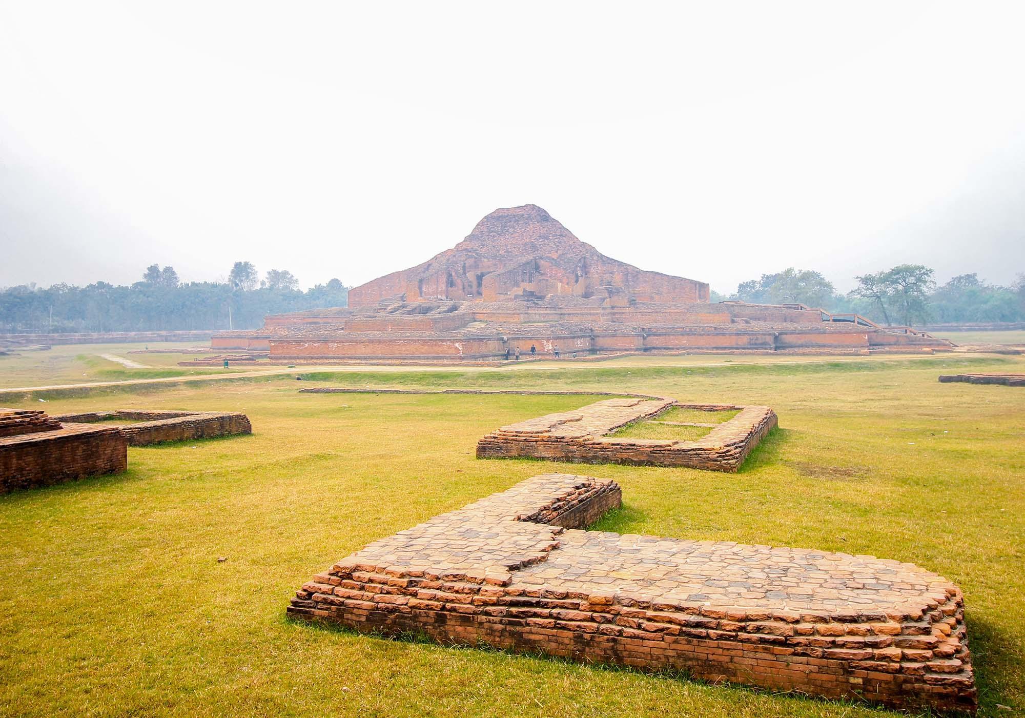 Looking across Paharpur to the central temple of the Somapura Mahavihara monastery. – © Roni Kabir Nurul