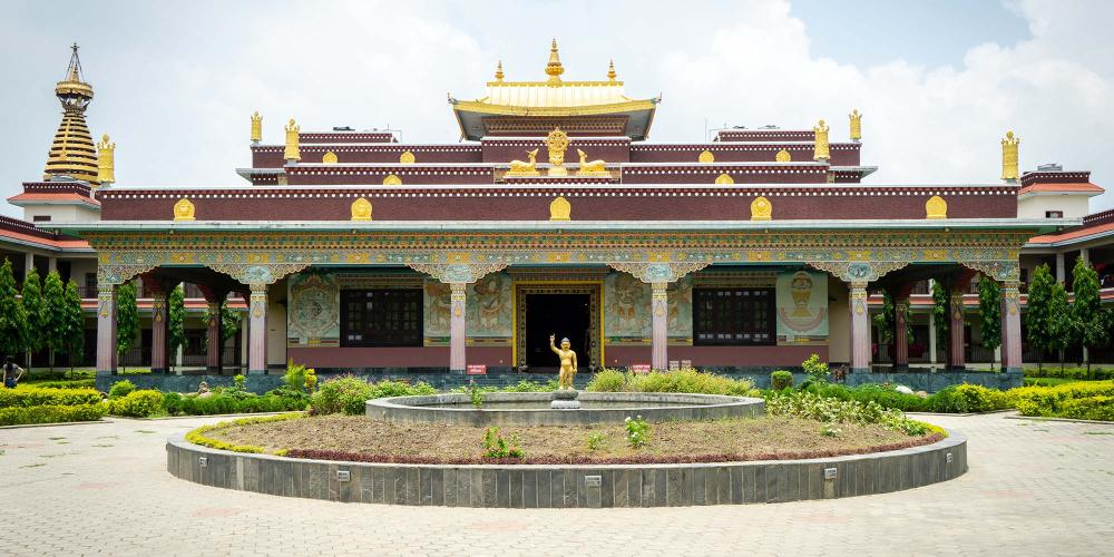 Many of the monasteries within Lumbini offer accommodation for pilgrims who want to extend their stay. – © Michael Turtle