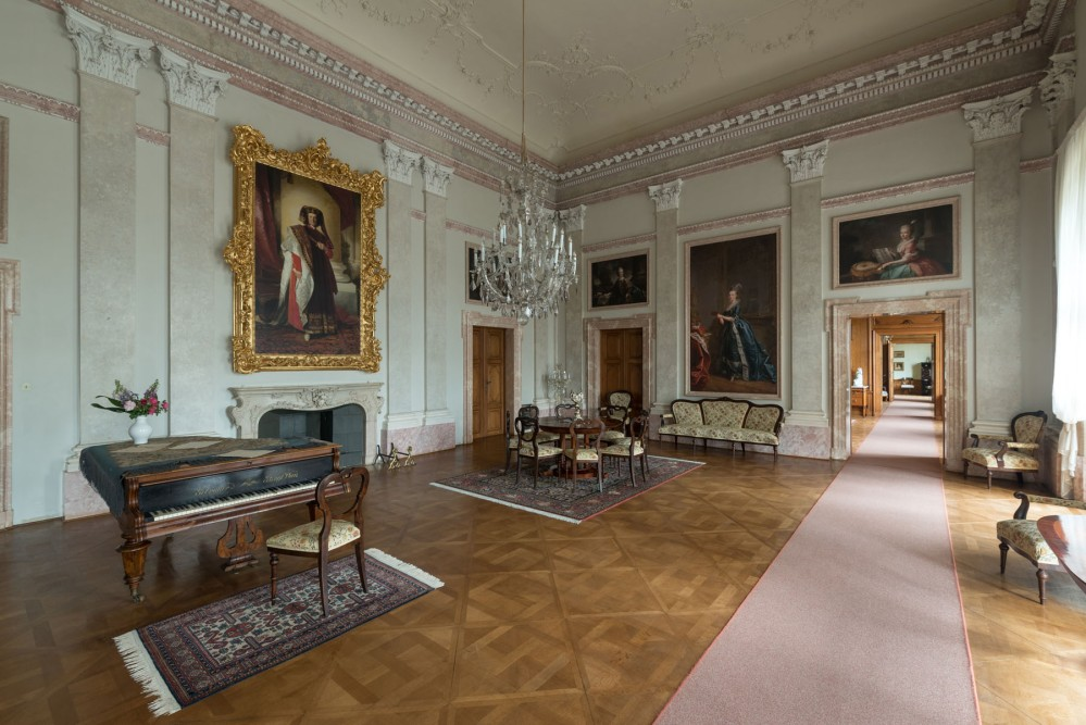 Family Hall is a part guided tour called Private Princely apartments at Lednice Castle. – © Archive of Lednice Castle