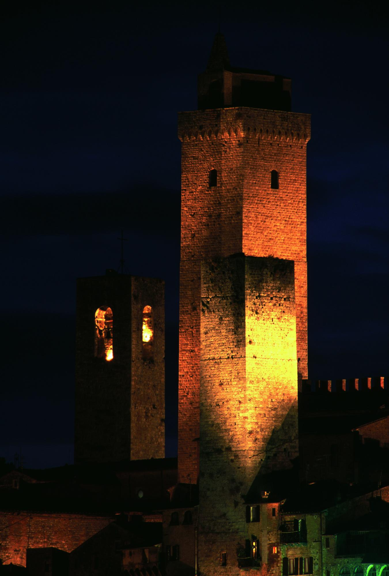 It is a magical experience to view the towers by night.