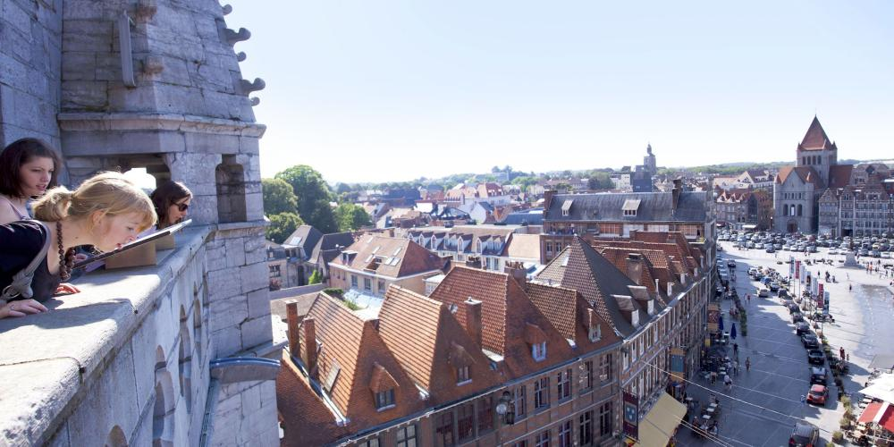 The terrace provides a wonderful view of the city – © Ville Tournai