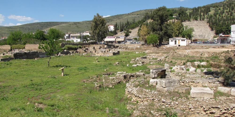 In the flat area, east of the Larissa hill the Agora was founded, the center of the public life of Argos city. – © Hellenic Ministry of Culture and Sports / Ephorate of Antiquities of Argolida