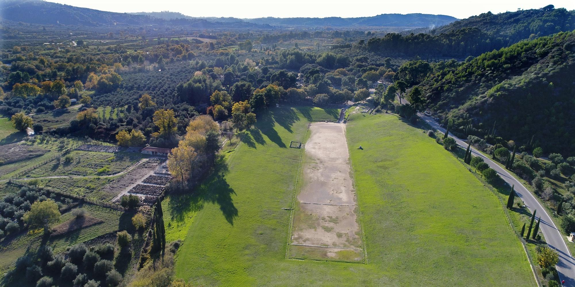 The Stadium of Olympia staged all the athletic competitions of the ancient Olympic Games. Only the chariot and horse races were hosted in the adjacent Hippodrome. – © Hellenic Ministry of Culture and Sports / Ephorate of Antiquities of Ilia