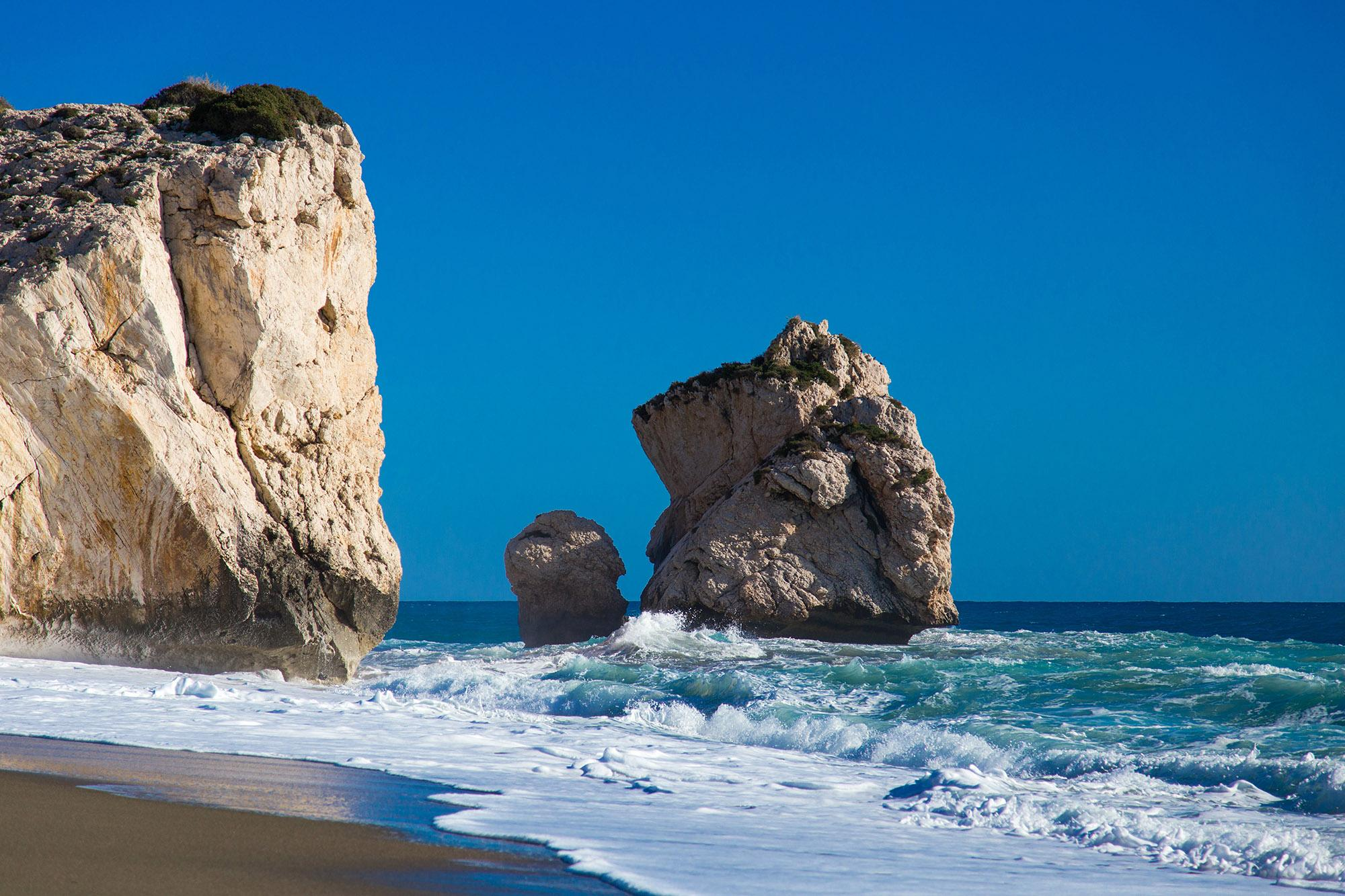 Petra Tou Romiou, or Aphrodite's Rock, is the legendary birthplace of the goddess. – © Evgenios Mouratidis / Shutterstock