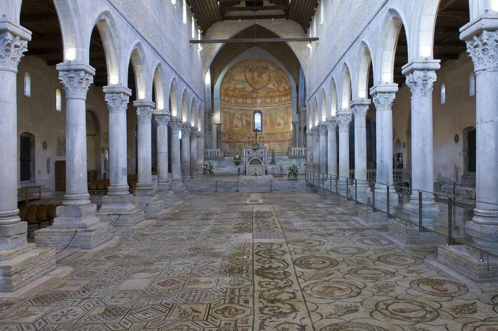 La basilique est l'un des monuments chrétiens les plus importants en Aquilée et est célèbre dans le monde entier pour ses mosaïques magnifiques datant du IVe siècle de notre ère. – © Gianluca Baronchelli