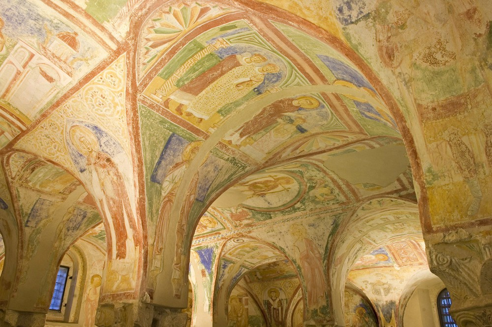 "A detail of the ""Crypt of frescoes"", whose different scenes tell one consistent story. – © Gianluca Baronchelli"