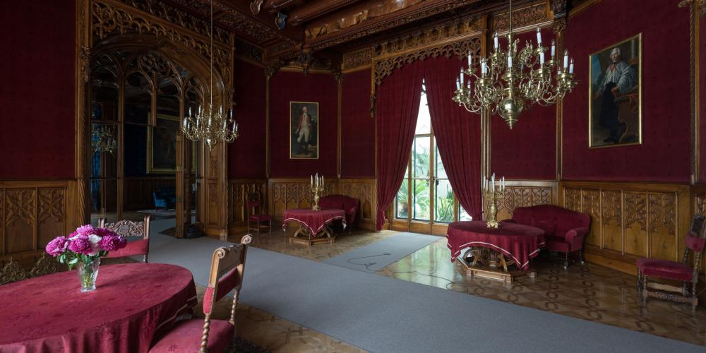 During the guided tour you will see the castle fully furnished castle rooms. – © Archive of Lednice Castle
