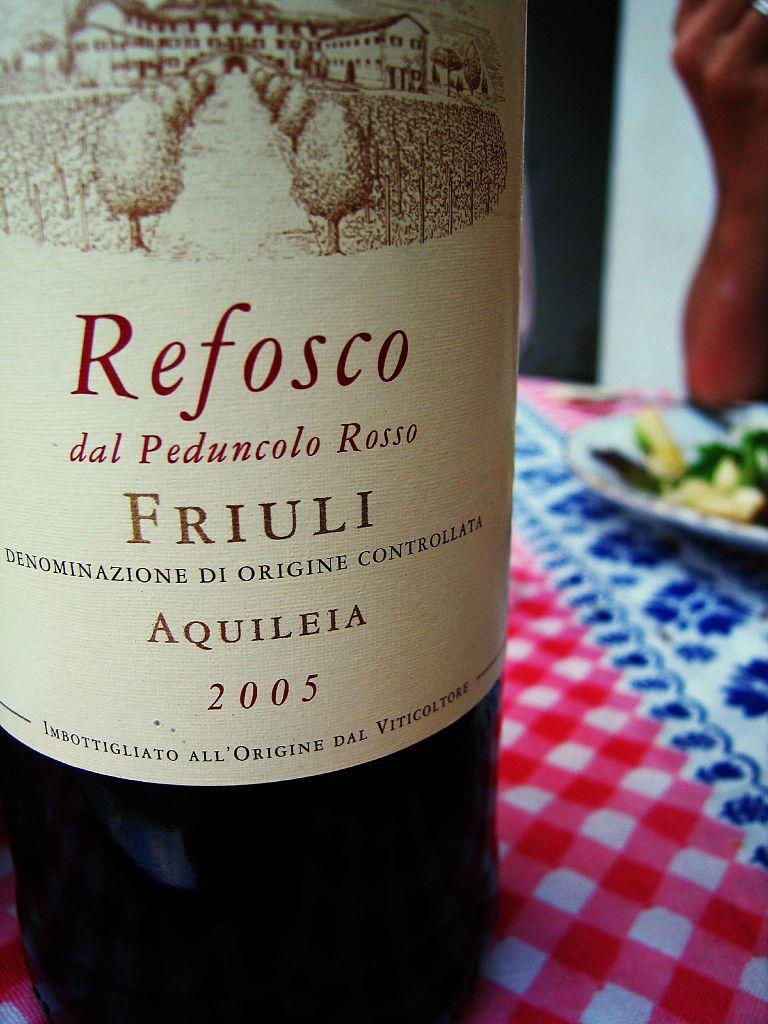 A bottle of Refosco dal Peduncolo Rosso from Friuli Aquileia DOC. – © Fabio Bruna
