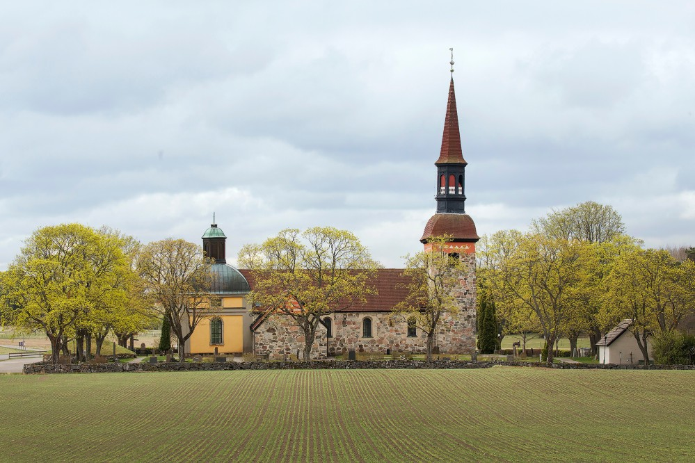 Lovö church was built in the 12th century in the middle of many historic villages. It is still used by the local Lutheran parish and is open for visitors Tuesday-Friday 9:00 a.m. to 4:00 p.m., May to September. – © Melker Dahlstrand