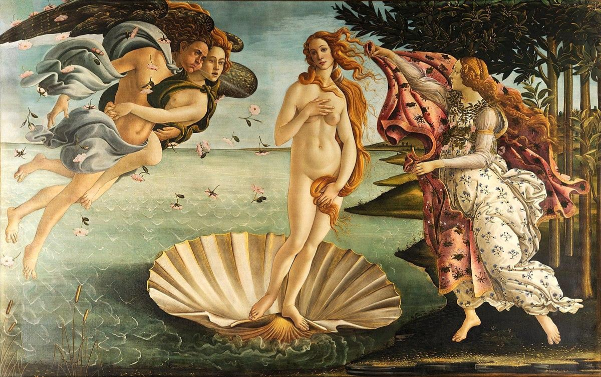 The Birth of Venus (1486) by Sandro Botticelli – Uffizi Gallery, Florence