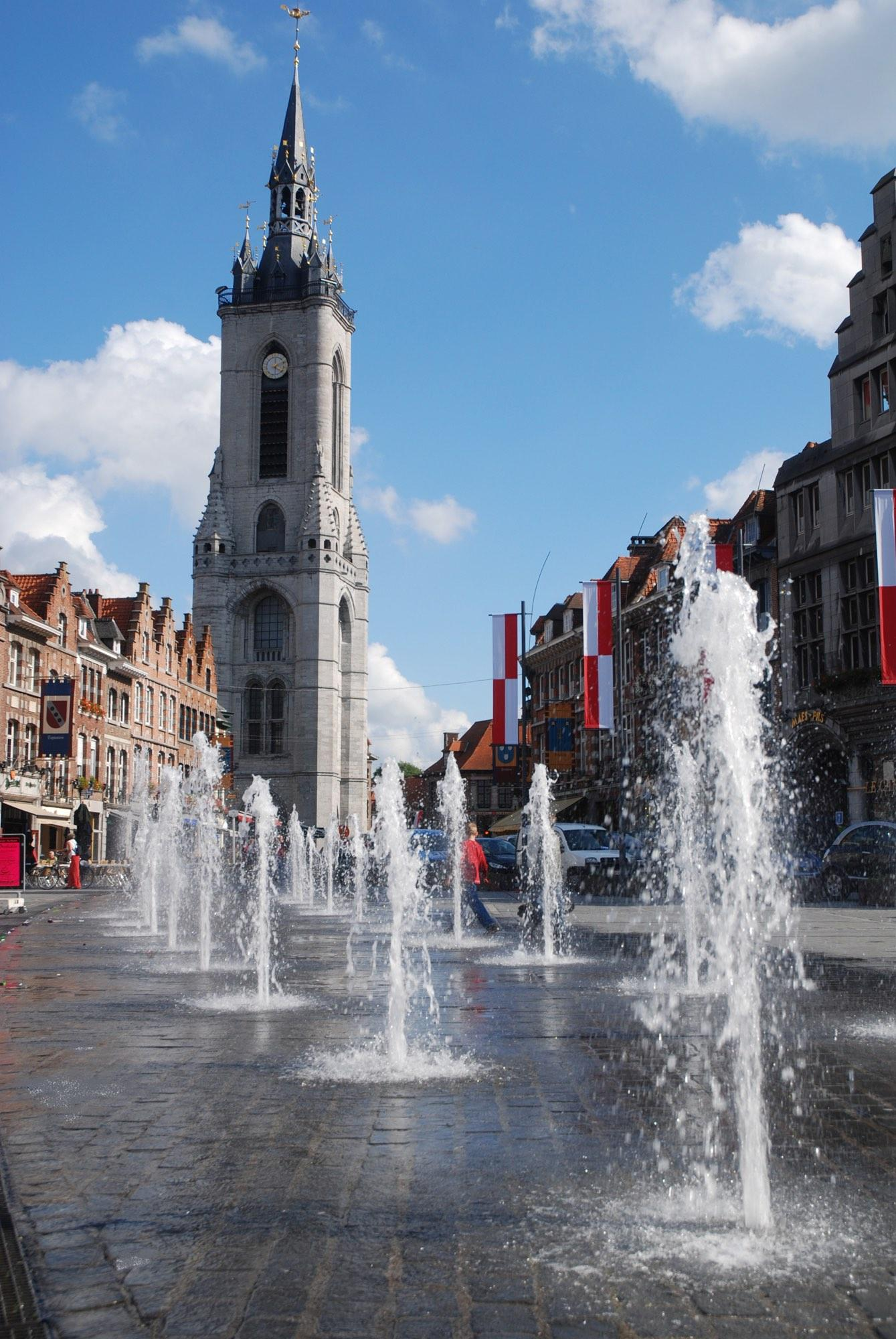 Fountains in the Grand-Place. – © Ville Tournai