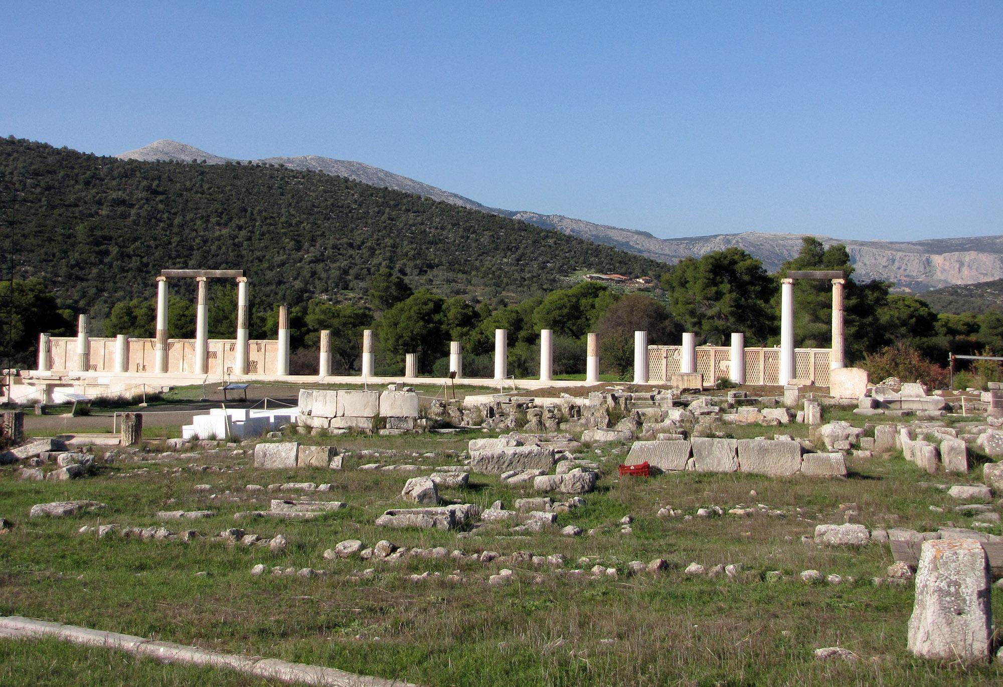The Abaton-Enkoimeterion was a dormitory where the sick were cured through the direct contact with Asclepius, who purportedly visited them as they slept. – © Hellenic Ministry of Culture and Sports / Ephorate of Antiquities of Argolida