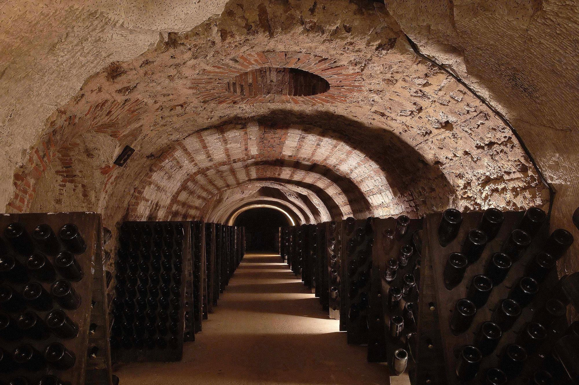 Wine caves at Avenue de Champagne in Epernay. Remember to bring a jacket, even in summer, as the temperature in the cellars fluctuates between 10-12°C. – © Michel Jolyot