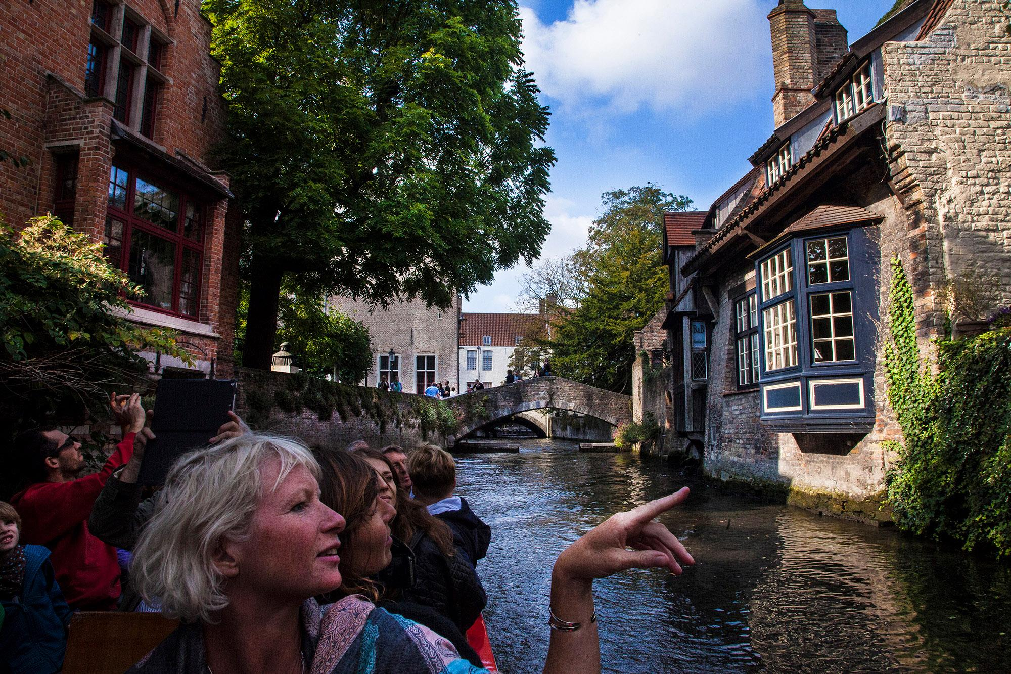 View from the water. – © Jan D. Hondt / Visit Bruges