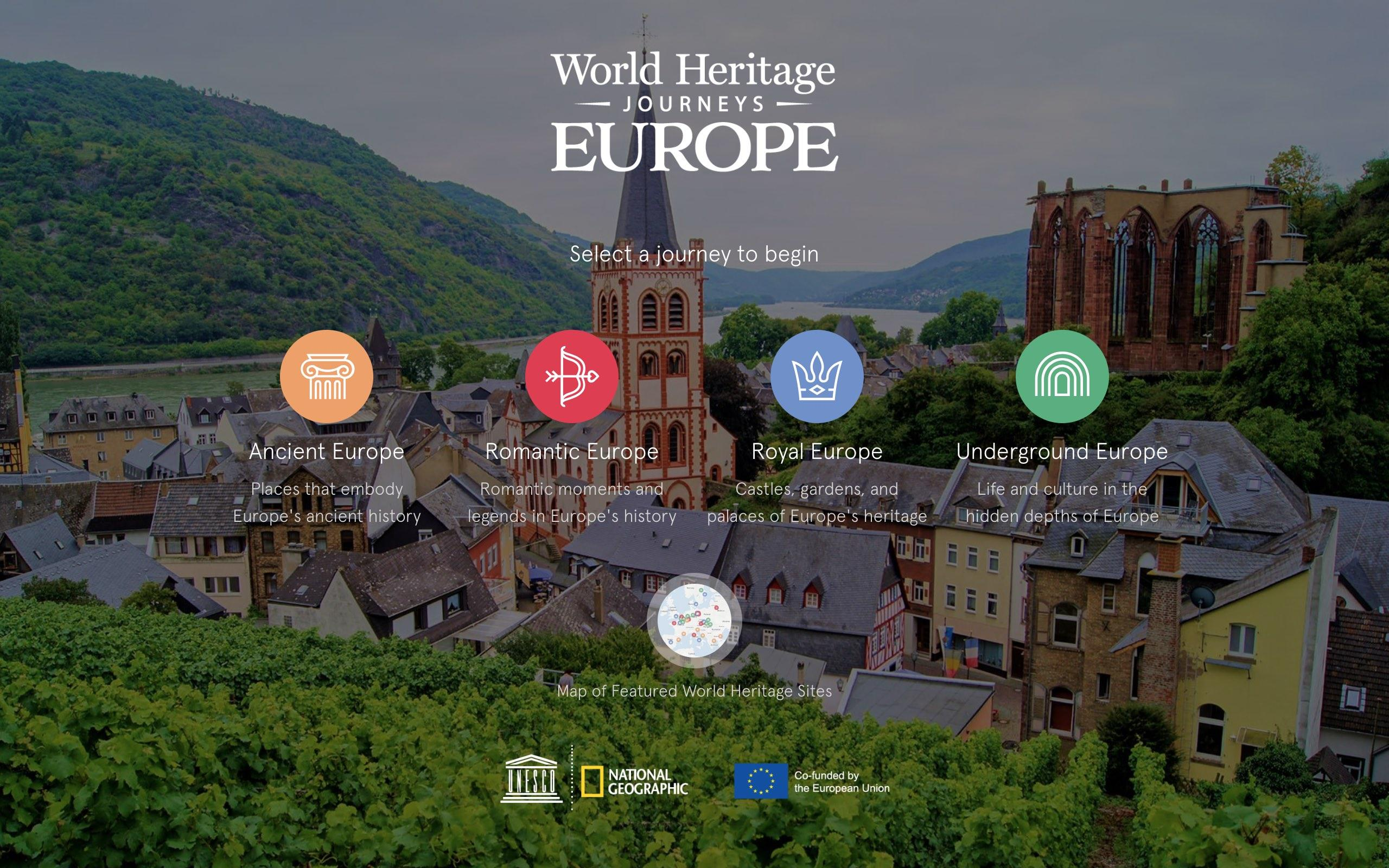 VisitEUWorldHeritage.com home page