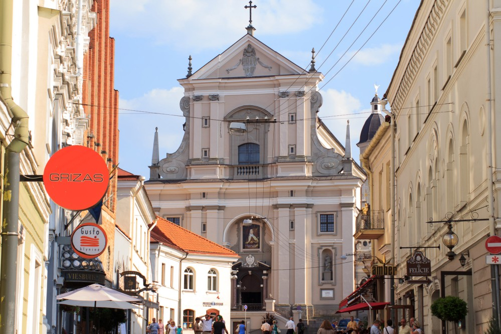 St Theresa's Church is probably the best surviving example of Early Baroque religious architecture in Vilnius. The work on the first incarnation was completed around 1650. – © www.vilnius-tourism.lt