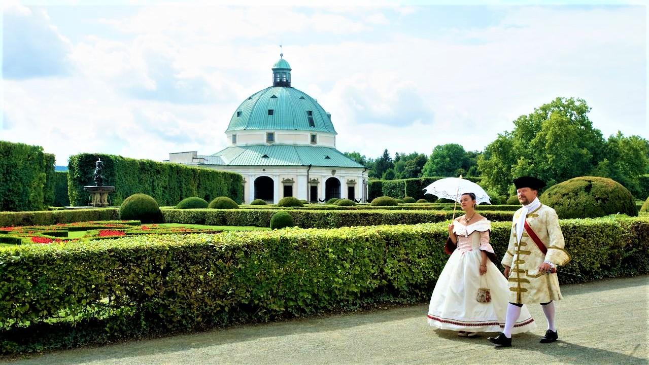 You will feel like one of the nobles of Kroměříž during the Golden era od the 17th century when Bishop Karl von Lichtenstein-Castlecorno founded the Flower Garden. - © Tomáš Vrtal