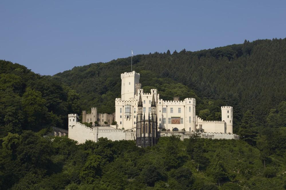 Stolzenfels Castle, Koblenz-Stolzenfels, was rebuilt between 1836 and 1842 as a summer residence for Friedrich Wilhelm IV of Prussia. – © Ulrich Peuffer / Generaldirektion Kulturelles Erbe Rheinland-Pfalz