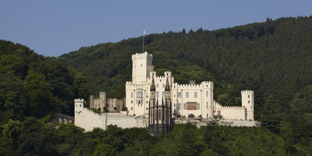 Stolzenfels Castle, Koblenz-Stolzenfels, was rebuilt between 1836 and 1842 as a summer residence for Friedrich Wilhelm IV of Prussia. – © Ulrich Peuffer / Generaldirektion Kulturelles Erbe Rheinland-Pfalz