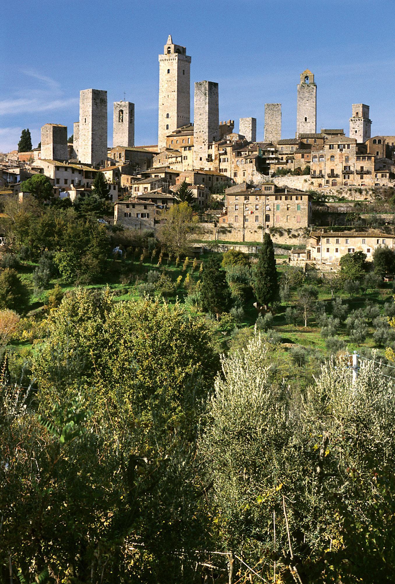 圣吉米尼亚诺历史中心的标志性景色。– © Comune di San Gimignano