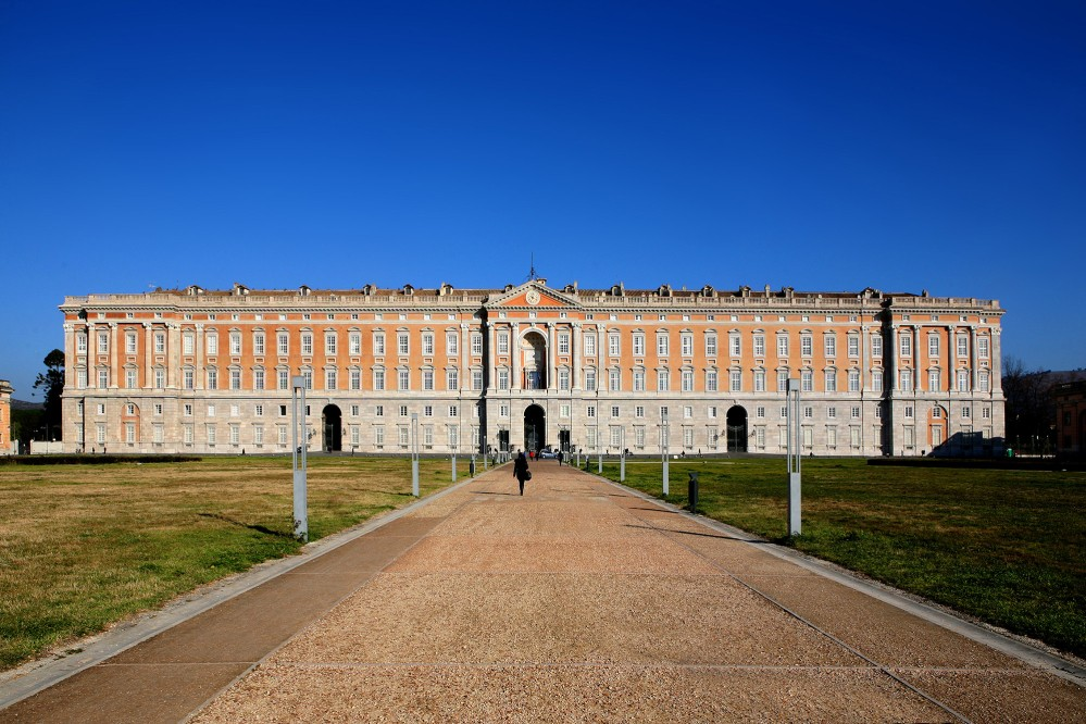 Combining the influences of Versailles, Rome, and Tuscany, the Caserta Royal Palace and Park, was designed by Luigi Vanvitelli, one of the greatest Italian architects of the 18th century. – ©  onairda / Shutterstock