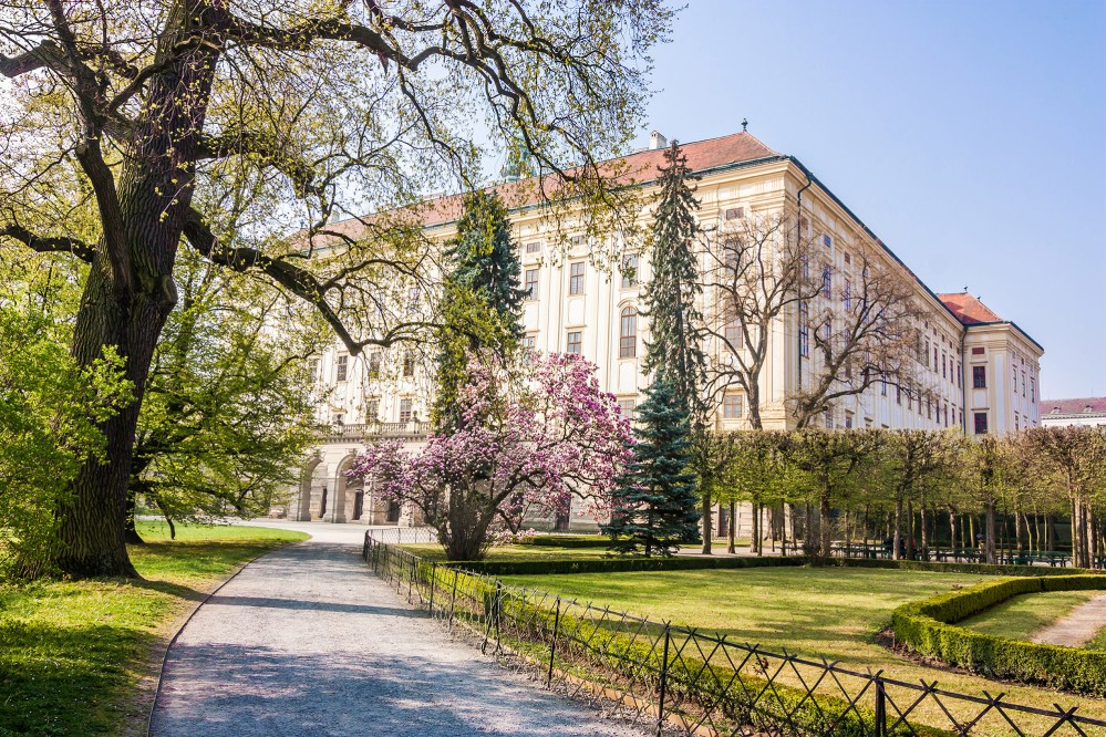 The Archbishop's Palace. The castle and gardens in Kroměříž serve as a fine example of a Baroque residential complex. – © Petr Baumann / Shutterstock