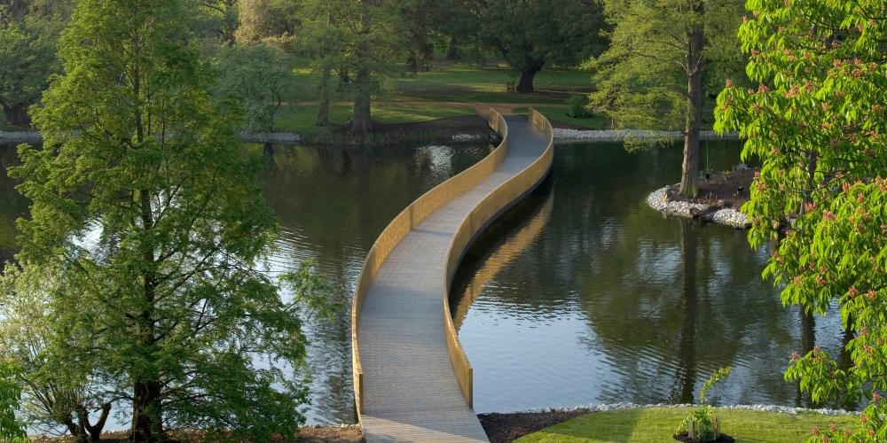 The Sackler Crossing, installed in 2006, gives easy access to some of Kew's less visited areas. – © RBG Kew