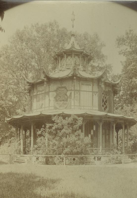 The Chinese pavilion in Lednice Castle Park, which no longer exists, was another proof of the international romantic outlook and trends of its time. – © Archive of Lednice Castle