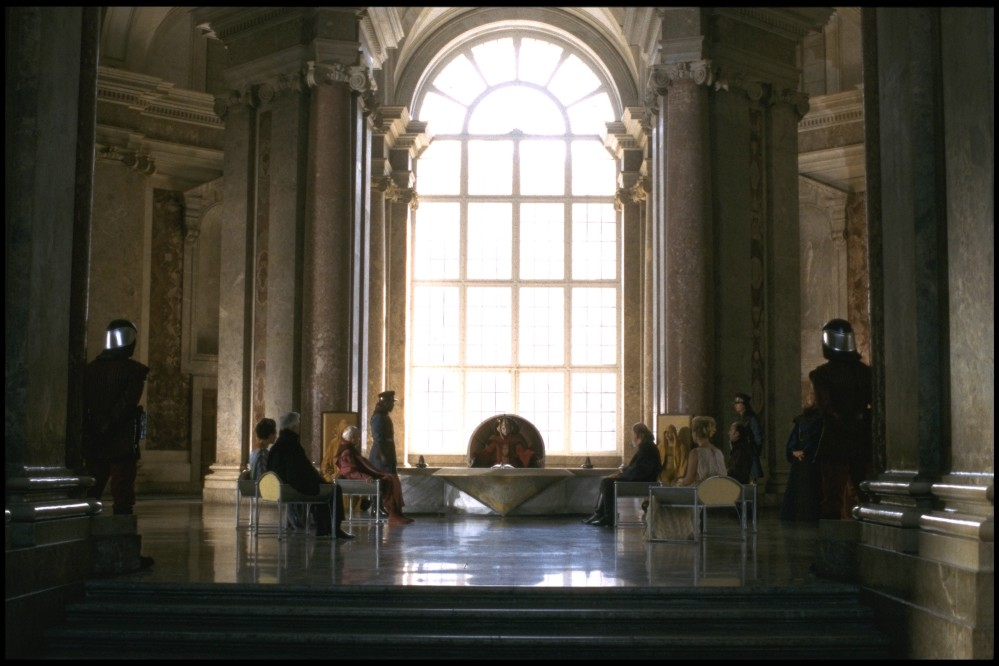 The Council Room when Caserta became the Royal Palace of Naboo for the Star Wars movies. – © Reggia Archive