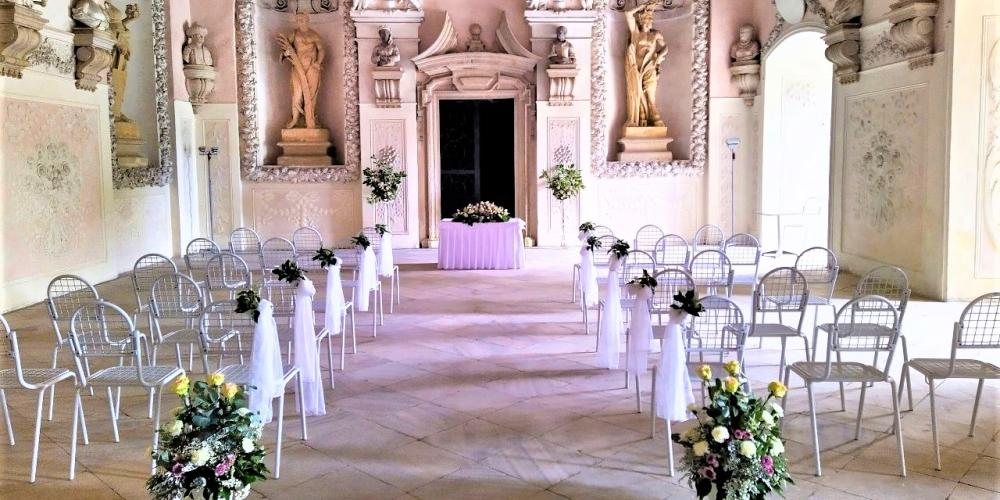 Sala Terrena is being used almost every saturday for wedding ceremonies. – © Archive of the Archiepiscopal Castle Kroměříž