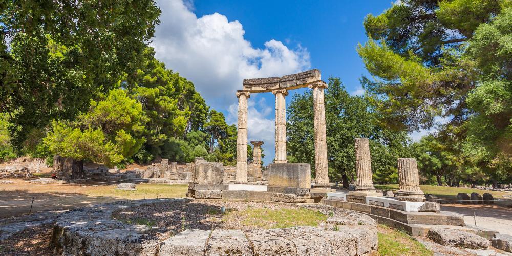 Passez quelques instants seul dans les ruines de l'ancienne Olympie, comme celles de Philippeion, et vous vous sentirez naître l'âme d'un champion. – © Elgreko / Shutterstock