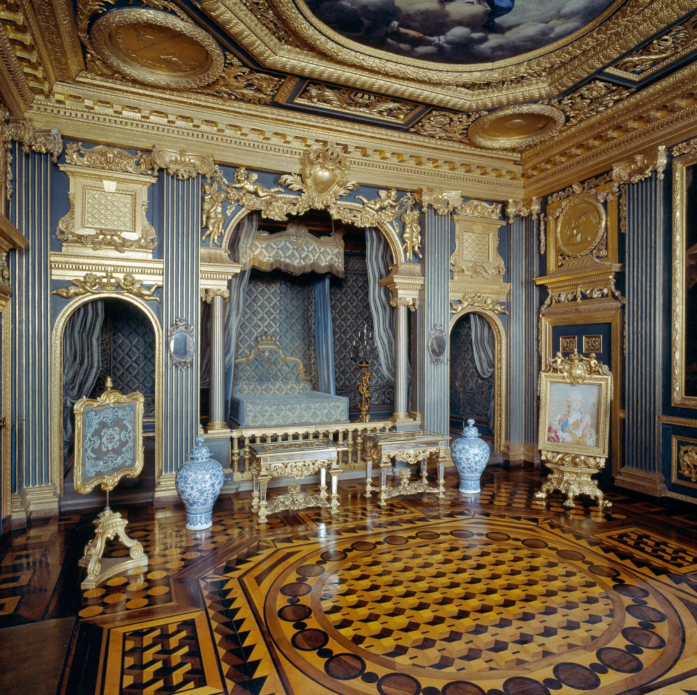 Nicodemus Tessin the Elder created a number of interiors, which rank among the foremost in Sweden from the early Baroque of the 1660s and 1670s. The Queen Hedvig Eleonora's State Bedchamber is one of the finest. – © Alexis Daflos
