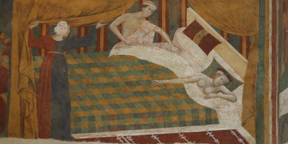 Un aperçu de la vie au Moyen Age grâce aux fresques de la Camera del Podestà. – © Musei Civici San Gimignano