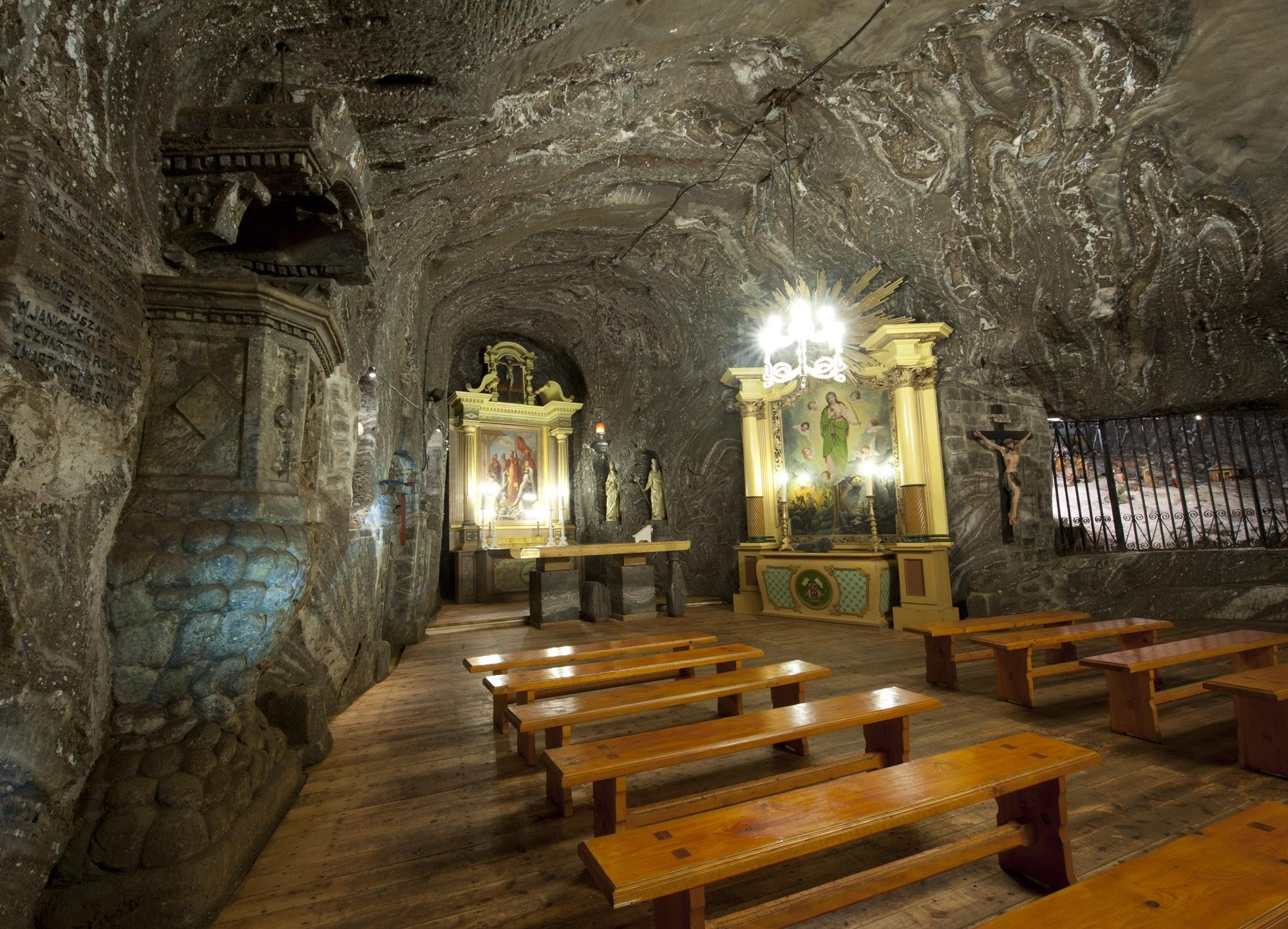 The history of the Chapel of St. Kinga in the Bochnia Salt Mine, as the place of worship, dates back to 1747. Since 2016, the saint's relics have been kept in the Chapel. – © Artur Grzybowski
