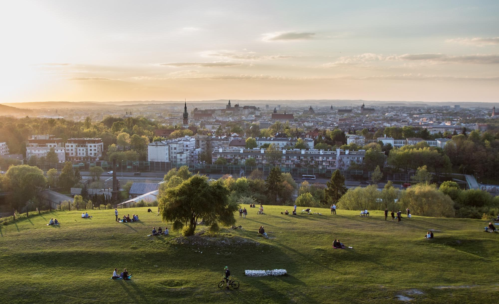 View of Krakow from Krakus Mound – © JaGra / Shutterstock