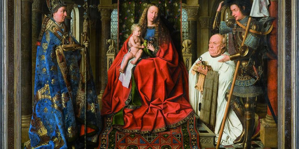 A highlight of a visit to the Groeninge Museum is a chance to study this stunning Van Eyck painting. – © City of Bruges / Visit Bruges
