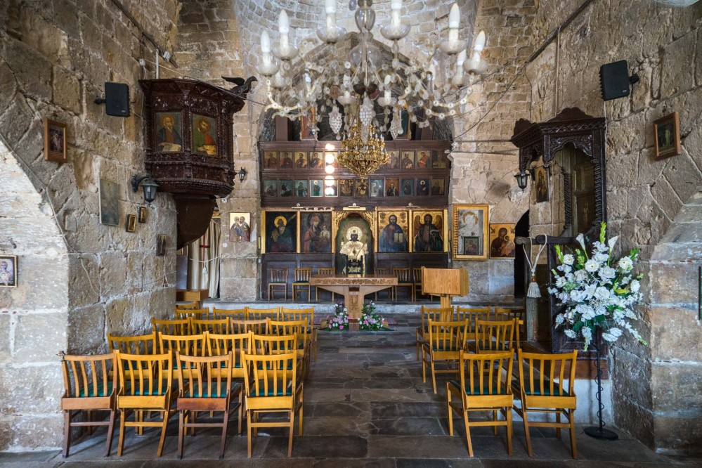 The church in the middle of the site was built around 1500 AD. It is still operational and is used as the main Anglican church in Pafos – © Michael Turtle
