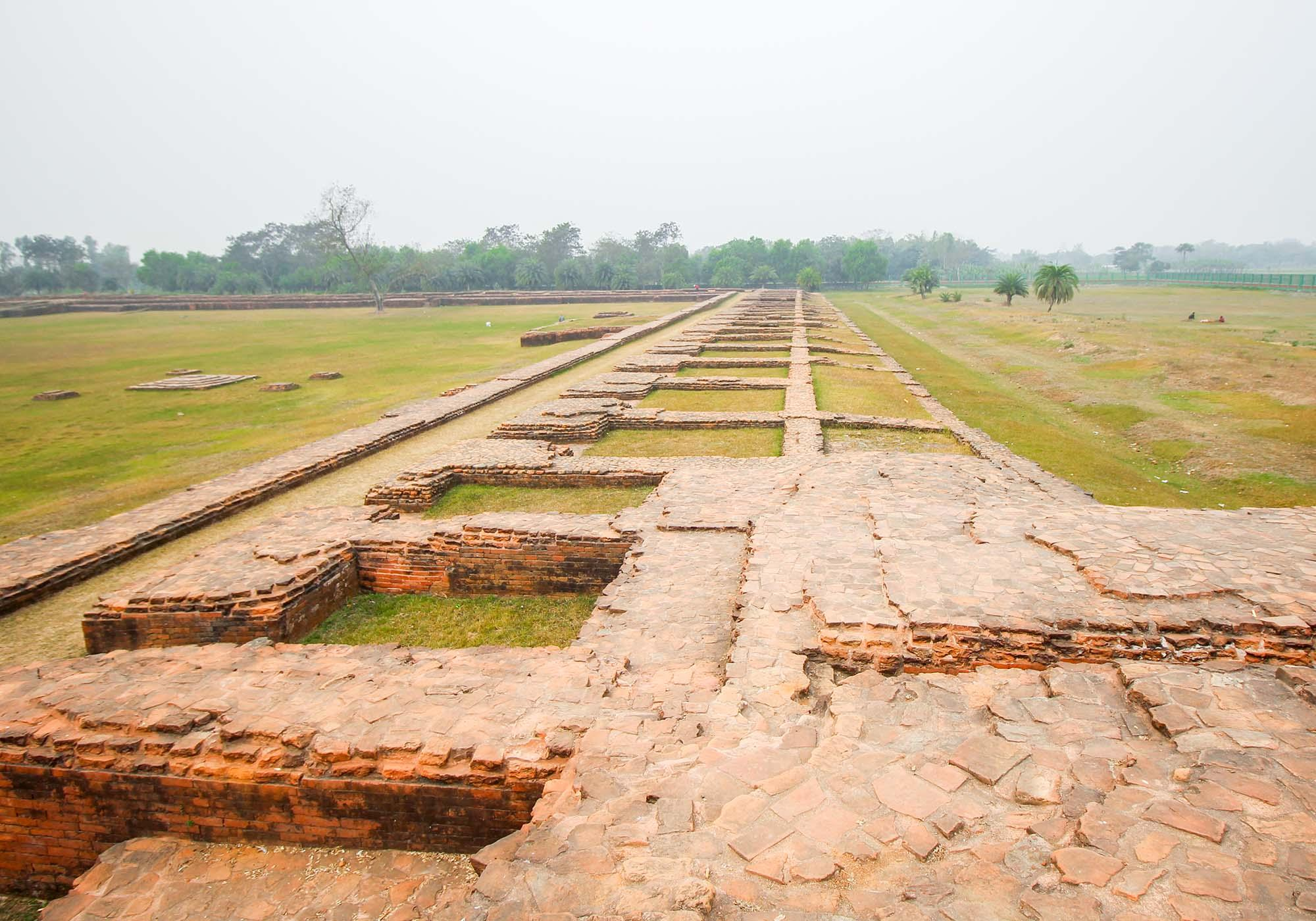 Some of the 177 rooms where the monks would have lived around the courtyard of the monastery of Somapura Mahavihara at Paharpur. – © Julfiker Ahmed