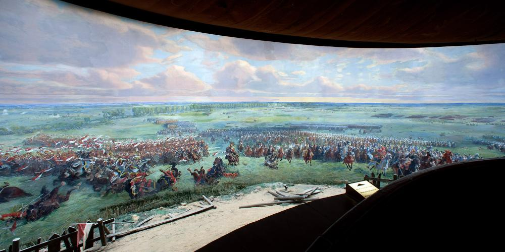 The Panorama of the Battle of Waterloo is an artistic representation of the foreground of the Battlefield presented on a 110m long circular canvas (one of the largest in the world). – © C. Recoura