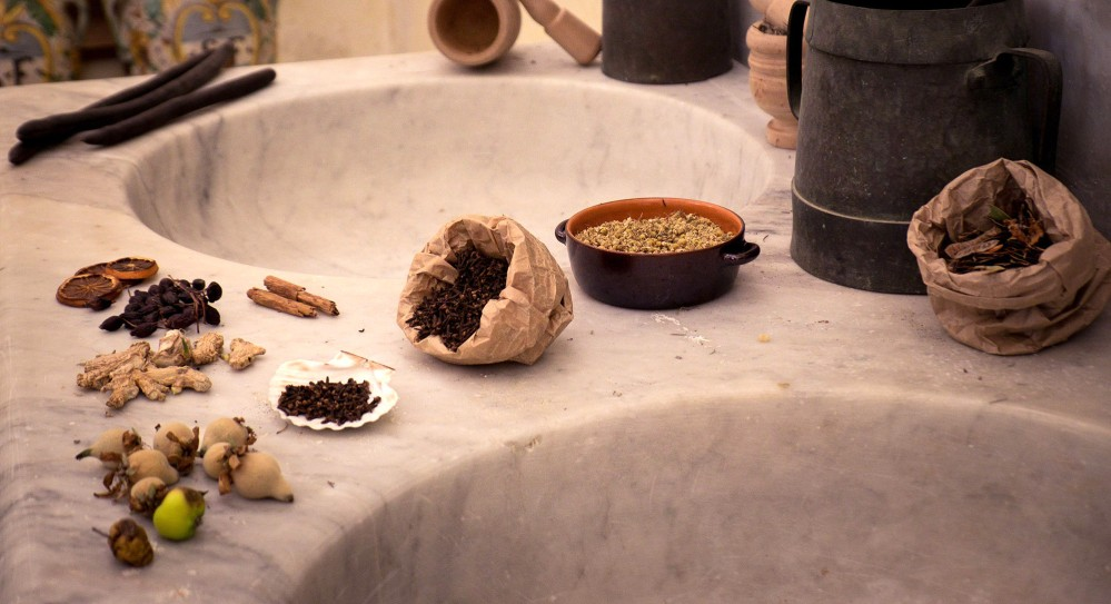 While exploring, you will find the natural ingredients used for medicines in the Spezieria di Santa Fina. You will have a chance to use them during the workshop. – © Andrea Miserocchi / Italian Stories