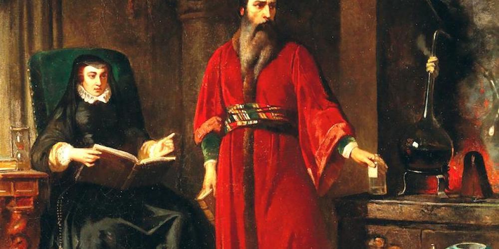 Catharine de' Medici and the Alchemist Cosimo Ruggieri, by Jean Lulvès (1867)
