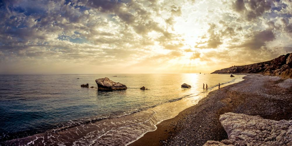 Petra tou Romiou, or Aphrodite's Rock, the legendary birthplace of the goddess Aphrodite, known as Venus by the Romans. – © CTO Archive