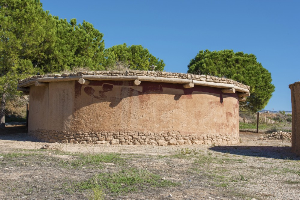 Constructed replica of a house dating back to the Chalcolithic period (3900-2500BC). – © CTO Archive